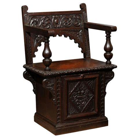 Atlanta Home Decor by Italian Renaissance Revival Oak Cabinet Chair At 1stdibs