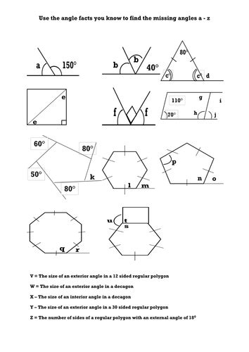 finding interior angles of a polygon worksheet worksheets on exterior angles of polygons homeshealth info