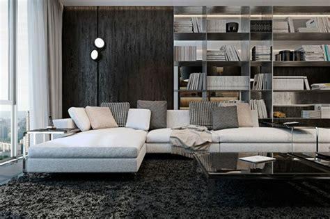 cuisine d angle compl鑼e appartement de luxe avec touche industrielle 224 kiev