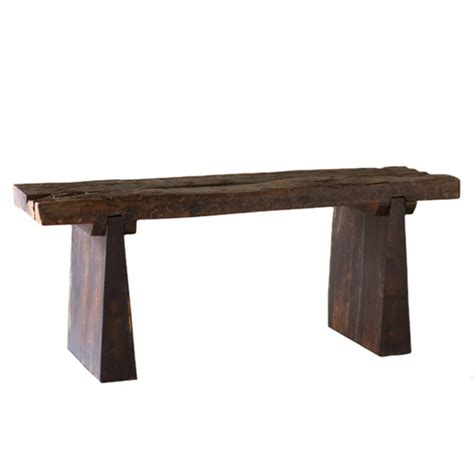 the recycled railroad tie bench gives new to a