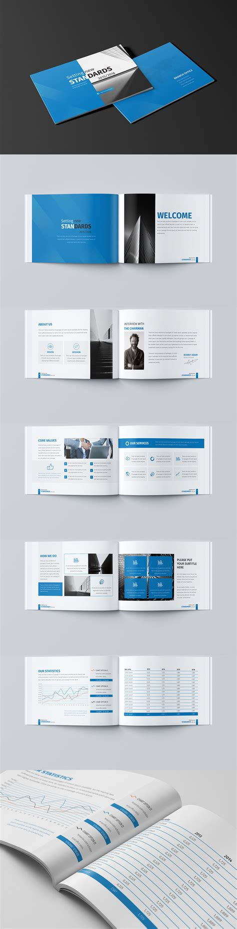Mini Business Brochure 12 Pages A5 Template Indesign Indd Brochure Templates In 2018 A5 Brochure Template Indesign