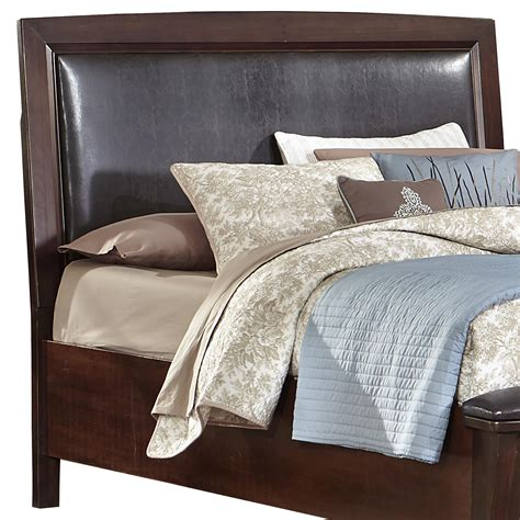 Leather Headboard King Vaughan Bassett Transitions King California King Upholstered Headboard Chocolate Bonded Leather