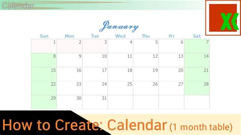 how to make table calendar calendar 1 month table how to create