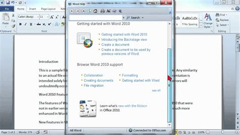 youtube tutorial on microsoft word microsoft word 2010 tutorial getting help k alliance