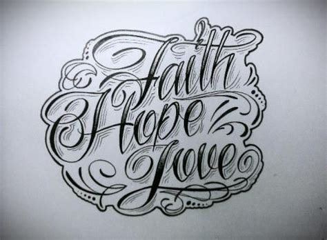 faith lettering tattoo designs faith draw ideas