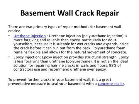 repairing basement wall cracks basement wall cracks fix in basement wall