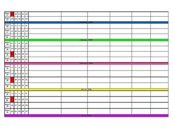 long range plan template   heart  elementary tpt