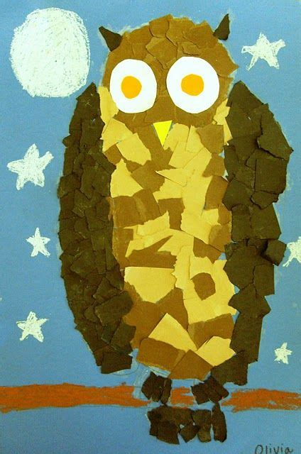 Paper Tearing Craft - for s fall class projects