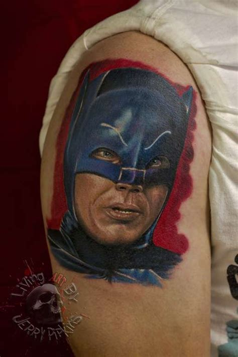 batman tattoo realistic jerrypipkins oldschool batman super heroes oldschool