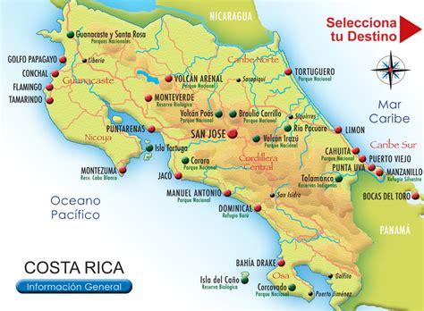 imagenes satelitales costa rica mapas de rios de costa rica