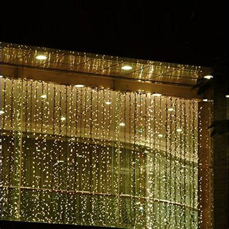 curtain lights outdoor kohree 110v 6mx3m 600 led outdoor party string fairy