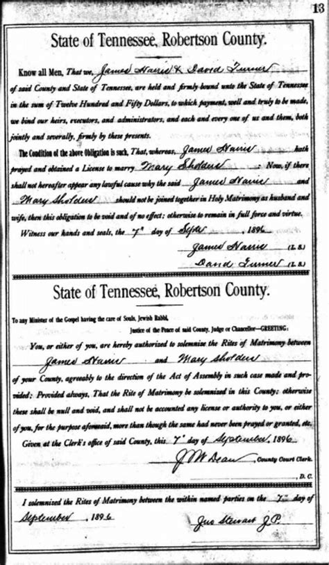 Marriage Records In Tennessee Using Tennessee Marriage Records