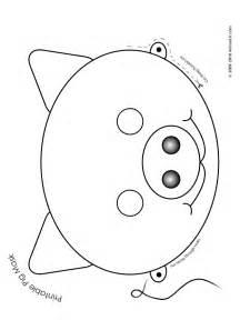 pig mask template printable pig mask coloring page woo jr activities