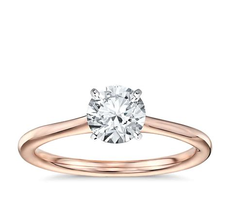 Solitaire Rings by Solitaire Engagement Ring In 14k Gold Blue Nile