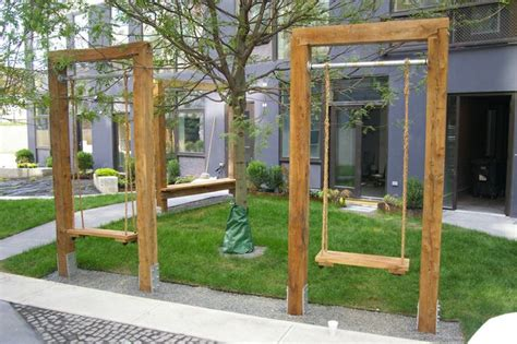 free standing swing free standing single swings inspiration great outdoors