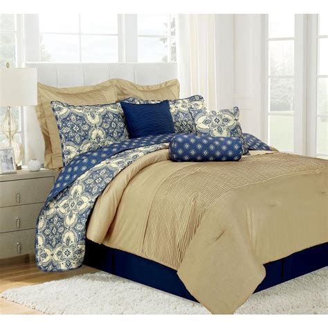 Microfiber Bedding Sets Patina Blue Microfiber 10 Comforter Set Mf75p04cmfs The Home Depot