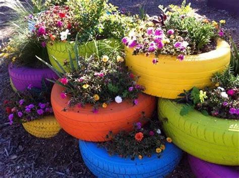 paint tires for garden planters dump a day