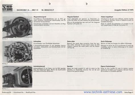 Sachs Motor Vergaser Einstellen by Sachs 505 1 Reparaturanleitung