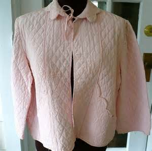 40s bed jacket pretty pink satin quilted vintage by