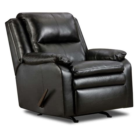 simmons soho bonded leather rocker recliner recliners at