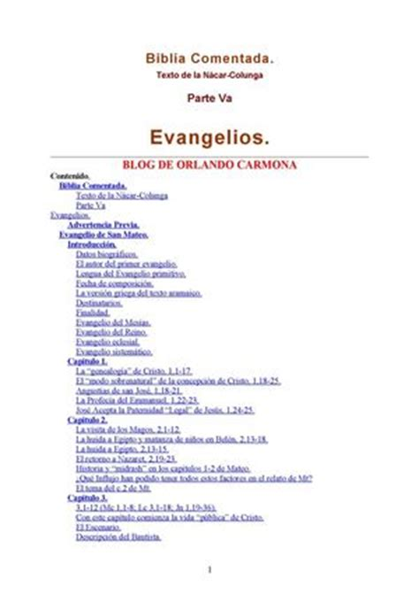 libro 1 los evangelios gnosticos calam 233 o anon biblia nacar colunga comentada 05 mateo y marcos doc