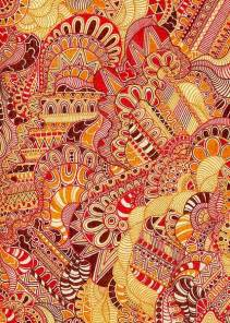 doodle orang summer zentangle pattern yellow gold orange doodle