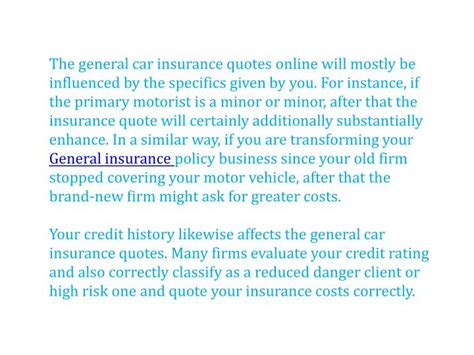The General Car Insurance Quote   The Car Database