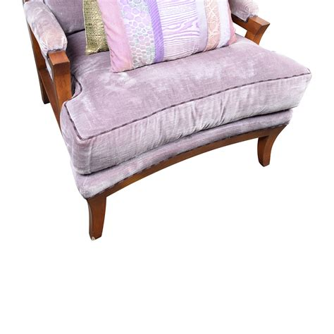 Accent Arm Chairs 87 Off Purple Velvet Accent Arm Chair Chairs