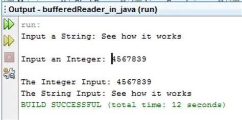 tutorial java bufferedreader code for bufferedreader class exle in java