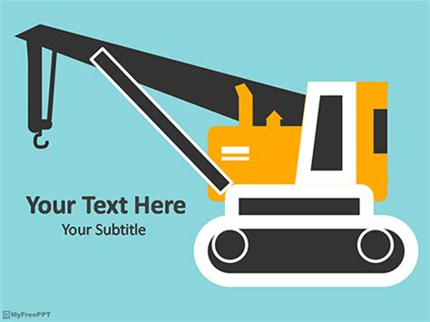 crane template free crane transport powerpoint template free