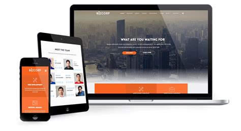 responsive template for bizcorp responsive business onepage joomla template