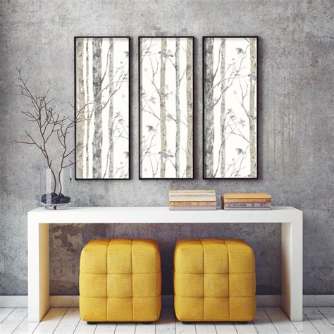 peel and stick wall decor roommates birch trees peel and stick wall decor