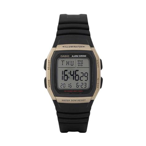 Jam Tangan Led One jual casio w 96h 9av silicon jam tangan pria black gold