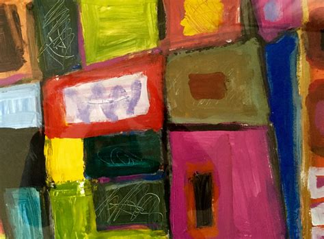 acrylic painting newspaper painting on paper with acrylics