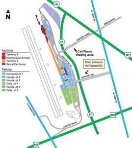 San Jose Airport Map airport parking map san jose airport parking map jpg