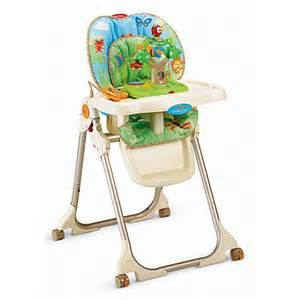 fisher price high chair with tray rainforest