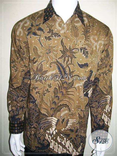 Kemeja Batik Pria Terbaru Lengan Panjang Mewah Elegan kemeja batik lengan panjang elegan batik tulis mewah