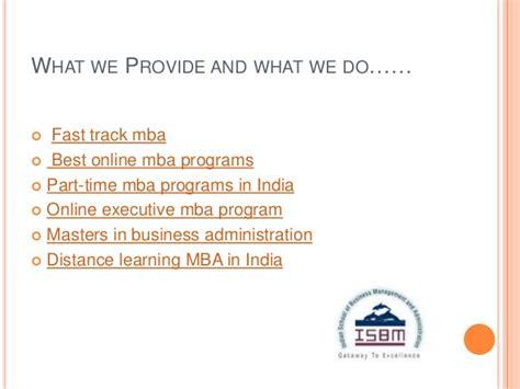 Fast Track Mba Programs In India ismb pptisbm executive mba program