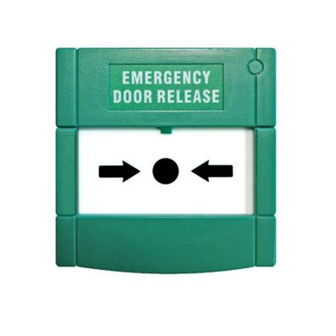 Emergency Door Release by Aperta Green Glass Emergency Door Release