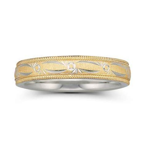 wedding band womens 4mm 10k ss bonded jcpenney the