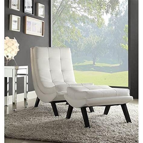 white chair and ottoman set product reviews buy ave six tustin faux leather lounge