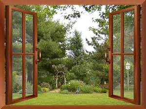 Garden Wall Murals Ideas of garden wall mural ideas beautiful garden or backyard view from