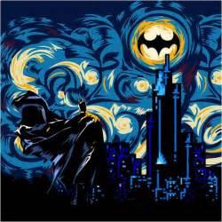 starry comforter batman meets gogh duvet cover bedding