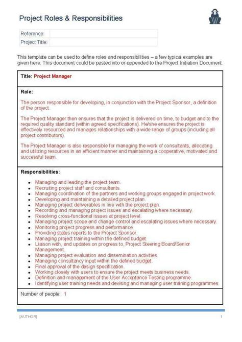 project management roles and responsibilities template project roles and responsibilities template ape project