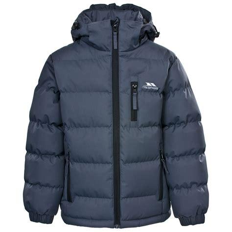 warm coats trespass boys padded school jacket childrens warm winter casual coat