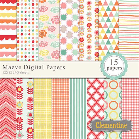 How To Make Digital Scrapbook Paper - maeve floral digital papers digital scrapbooking paper