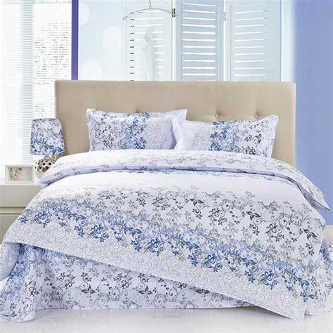 Bed Bigland Flora White grey and white floral bedding