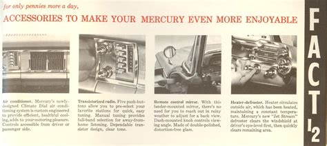 1960s fun facts directory index mercury 1960 mercury 1960 mercury facts booklet