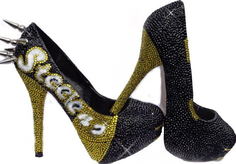 steelers high heels pittsburgh steelers inspired heels by hergamebyvishaj on