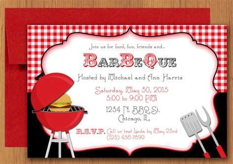 bbq invite template 30 barbeque invitation templates free sle exle